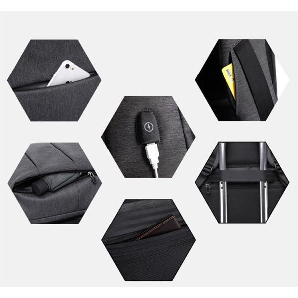 ラップトップバックパック 耐衝撃 15.6インチPCバッグ USB ポート搭載 ビジネスリュック 撥水 大容量 リュックサック 男女兼用 大学生