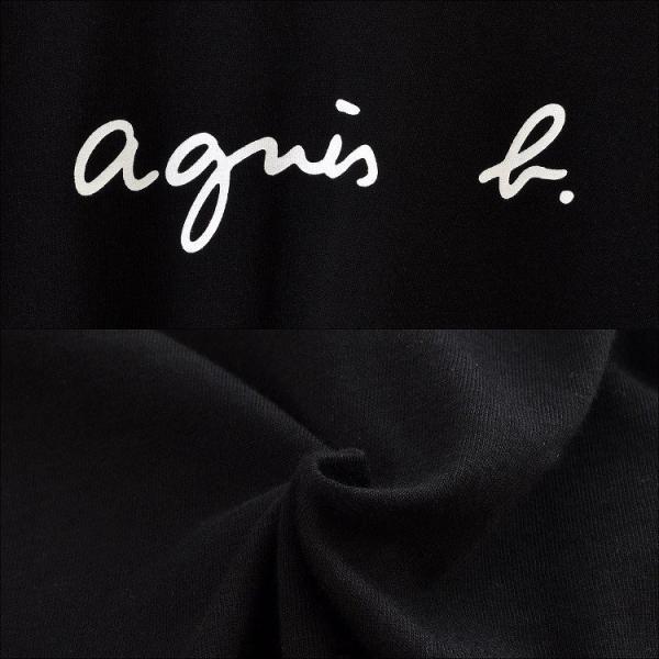 アニエスベー agnes b. レディース Tシャツ ロンT カットソー 長袖 Tシャツ ロングTシャツ ロゴTシャツ 黒 白 ショッパー付き [並行輸入品] クリスマス cobalt-shop 03