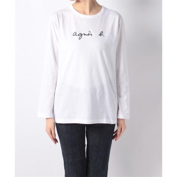 アニエスベー agnes b. レディース Tシャツ ロンT カットソー 長袖 Tシャツ ロングTシャツ ロゴTシャツ 黒 白 ショッパー付き [並行輸入品] クリスマス cobalt-shop 04