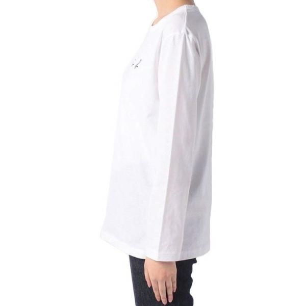 アニエスベー agnes b. レディース Tシャツ ロンT カットソー 長袖 Tシャツ ロングTシャツ ロゴTシャツ 黒 白 ショッパー付き [並行輸入品] クリスマス cobalt-shop 05