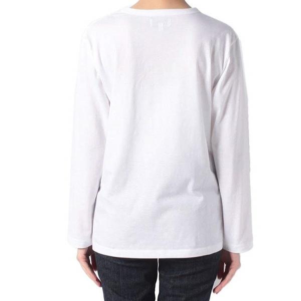 アニエスベー agnes b. レディース Tシャツ ロンT カットソー 長袖 Tシャツ ロングTシャツ ロゴTシャツ 黒 白 ショッパー付き [並行輸入品] クリスマス cobalt-shop 06