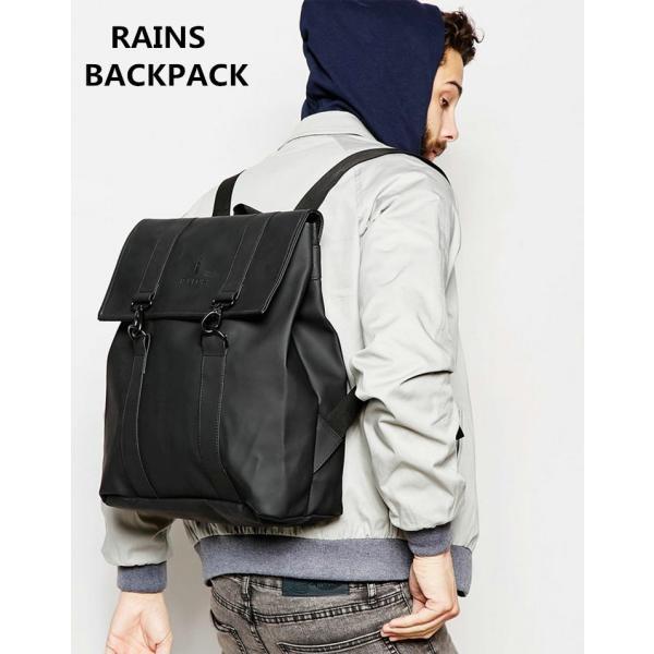 RAINS BACKPACK レインズ バッグ 防水 バックパック リュック メンズ レディース 通勤 通学 裏ポケット付き|cobalt-shop