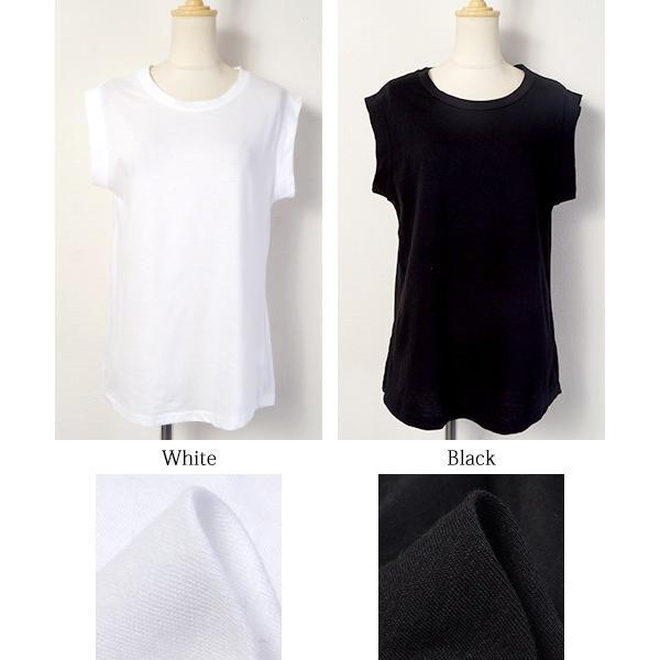 ノースリーブ タンクトップ カットソー Tシャツ 無地 綿100% コットン シンプル 16ss メール便可 akiico cocacoca 04