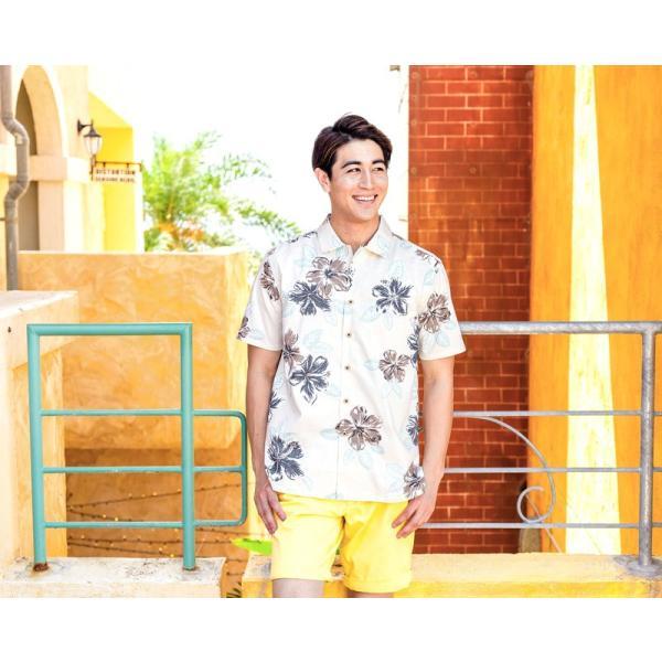 メンズ アロハシャツココナッツジュース シャツ  Painted Hibi 全3色  オープンカラーシャツ 半袖 3L4L5L 大きいサイズあり メール便利用で送料無料|coco-j|03