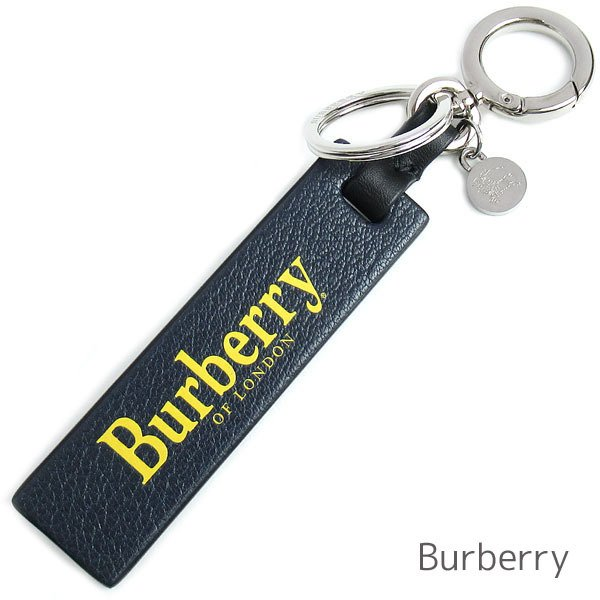 バーバリー ロンドン キーホルダー バッグチャーム キーリング メンズ レディース Burberry レザー