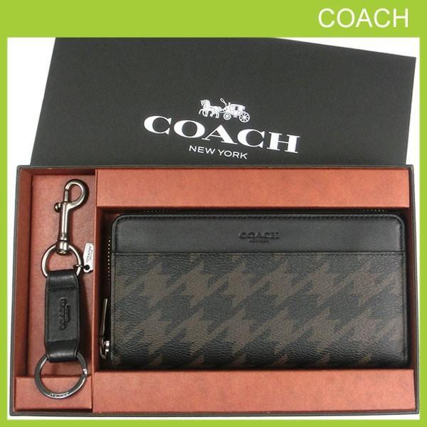 7acd599a69ac コーチ 長財布 キーホルダー セット メンズ COACH キーリング 専用箱付きの画像
