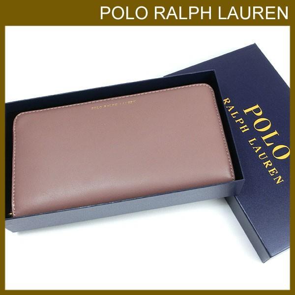 7196b59aa631 ポロ ラルフローレン 長財布 レディース ラルフローレン専用箱付き レザー ラウンドファスナーの画像