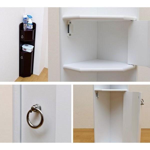 トイレコーナーラック トイレラック トイレ収納ラック お手洗いラック 掃除用具入れ インテリア おしゃれ|cocoaru|03