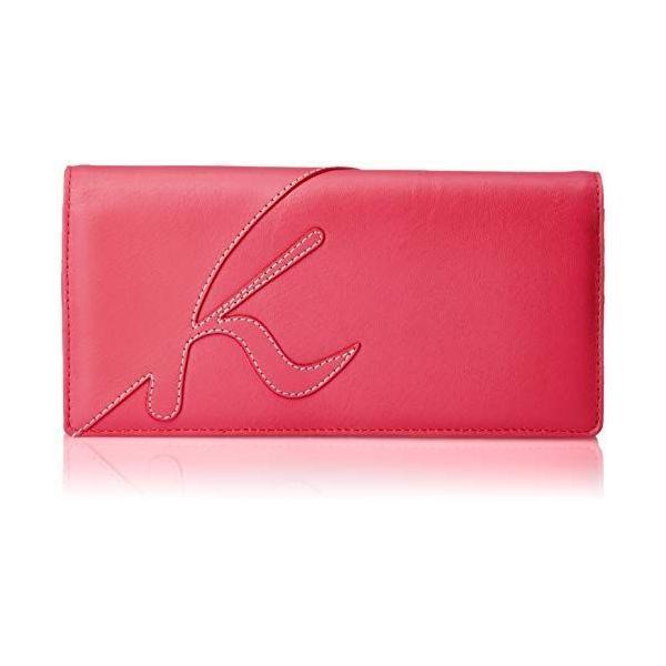 キタムラ 長財布中身の量に合わせて調整できるダブルホックタイプZH0339ローズ 赤 74741