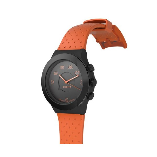 CONNECTEDEVICE Bluetooth SMART対応アナログ腕時計 COGITO FIT ORANGE BLACK CW3.1-005-01