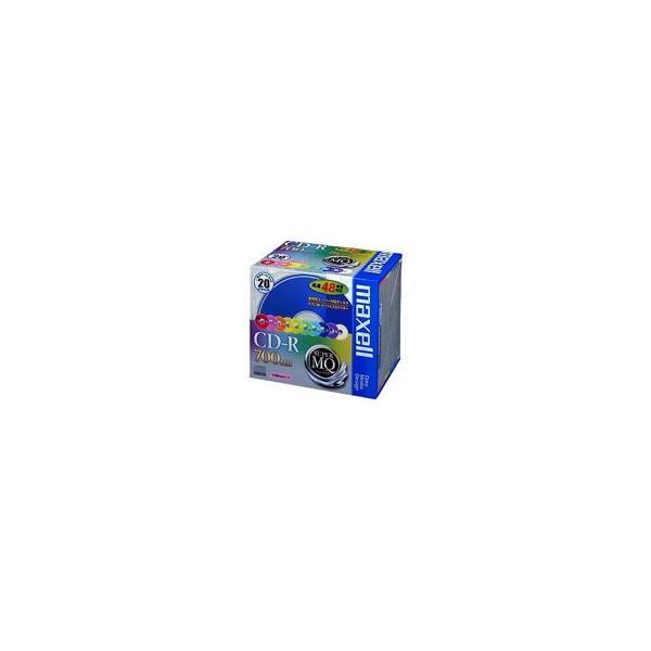 マクセル maxell CD-R 700MB SupreMQ カラーミックス20枚 CDR700S.MIX1P20S