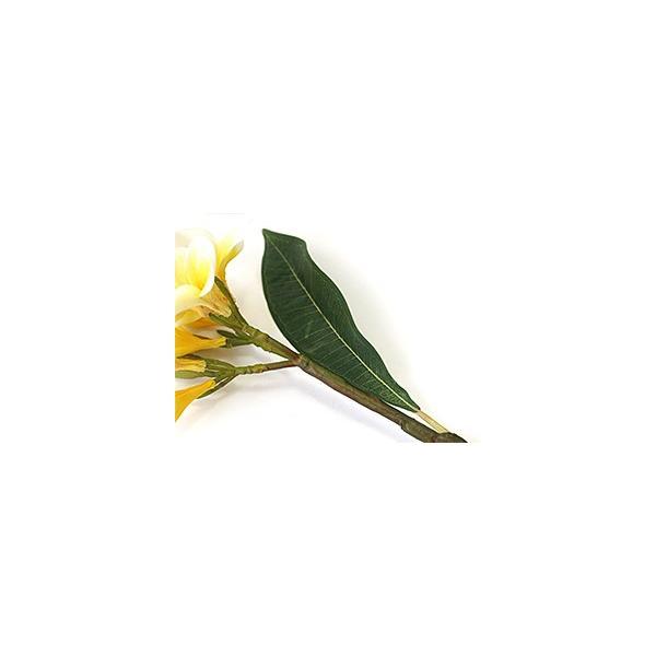 フェイクフラワー プルメリア(枝葉付)(イエロー)   南国 トロピカル バリ雑貨 ハワイ バリ雑貨 インテリア ココバリ|cocobari|02