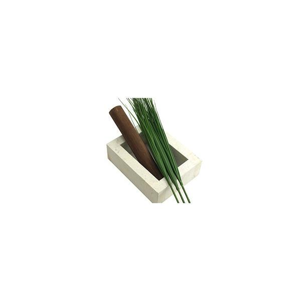 ストーンVASEスクエア(バンブー、ベアグラス3本付き) lxl アジアン バリ フラワーベース 石 おしゃれ リゾート バリ雑貨 インテリア ココバリ|cocobari|06