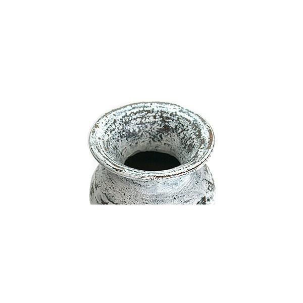 Flower Vase (Terracotta) Antique wash (Small size) シャビーシック アンティーク ビンテージ テラコッタ 植木鉢 白い バリ雑貨 インテリア ココバリ|cocobari|03