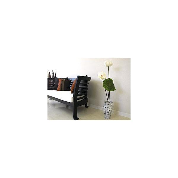 Flower Vase (Terracotta) Antique wash (Small size) シャビーシック アンティーク ビンテージ テラコッタ 植木鉢 白い バリ雑貨 インテリア ココバリ|cocobari|05