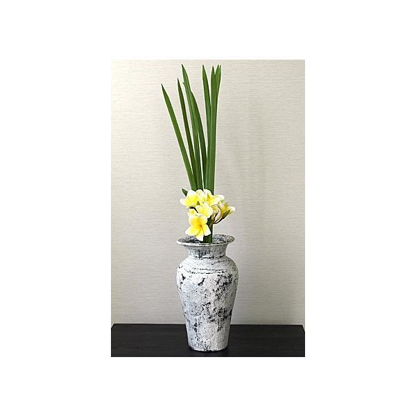 Flower Vase (Terracotta) Antique wash (Small size) シャビーシック アンティーク ビンテージ テラコッタ 植木鉢 白い バリ雑貨 インテリア ココバリ|cocobari|08