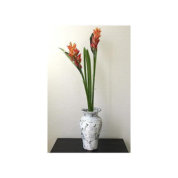 Flower Vase (Terracotta) Antique wash (Small size) シャビーシック アンティーク ビンテージ テラコッタ 植木鉢 白い バリ雑貨 インテリア ココバリ|cocobari|09