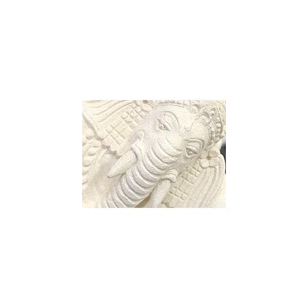 ガネーシャ(寝そべり) 頭飾り用ミニプルメリア1個と専用マット付き   置物 石像 ストーン インド 神様 バリ雑貨 インテリア ココバリ cocobari 04