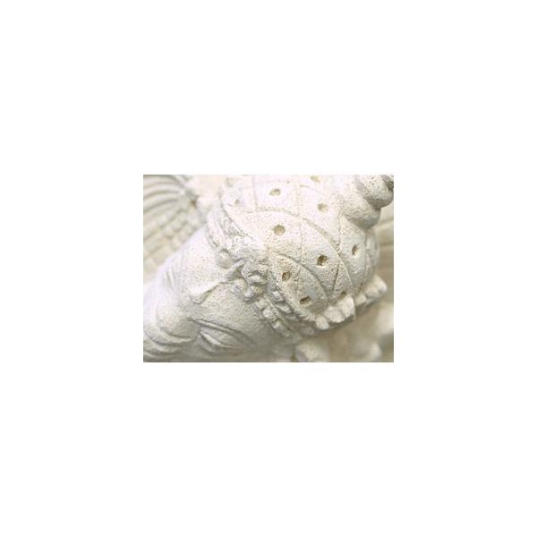 ガネーシャ(寝そべり) 頭飾り用ミニプルメリア1個と専用マット付き   置物 石像 ストーン インド 神様 バリ雑貨 インテリア ココバリ cocobari 05