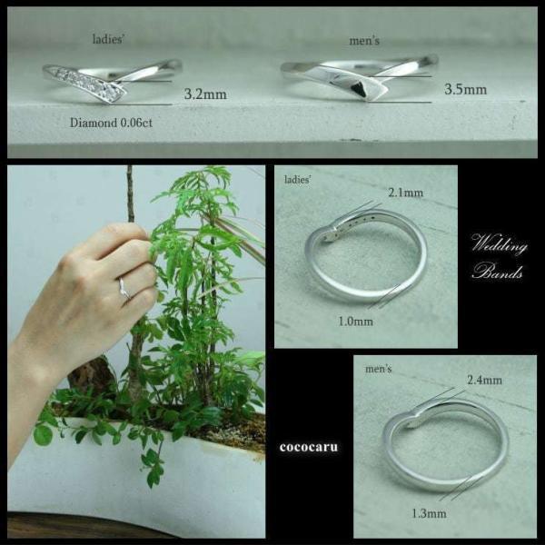 ペアリング 結婚指輪 安い 2本セット プラチナ ダイヤモンド マリッジリング 指輪 pt900 母の日