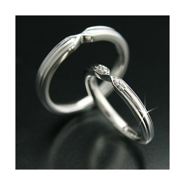 ペアリング 結婚指輪 安い 2本セット K18 ゴールド マリッジリング 指輪  ダイヤモンド 母の日