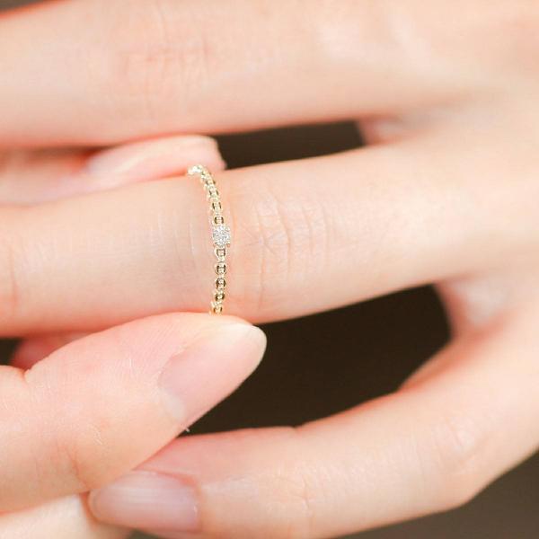 一粒 ダイヤモンド 指輪 リング K10 ゴールド レディース 人気