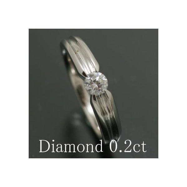 プラチナ 婚約指輪 エンゲージリング ダイヤモンド 0.2ct SI2クラス Hカラー Good 鑑定書付き 母の日