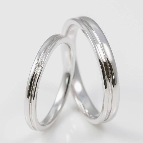 ペアリング 結婚指輪 安い 2本セット シルバー ダイヤモンド マリッジリング 母の日