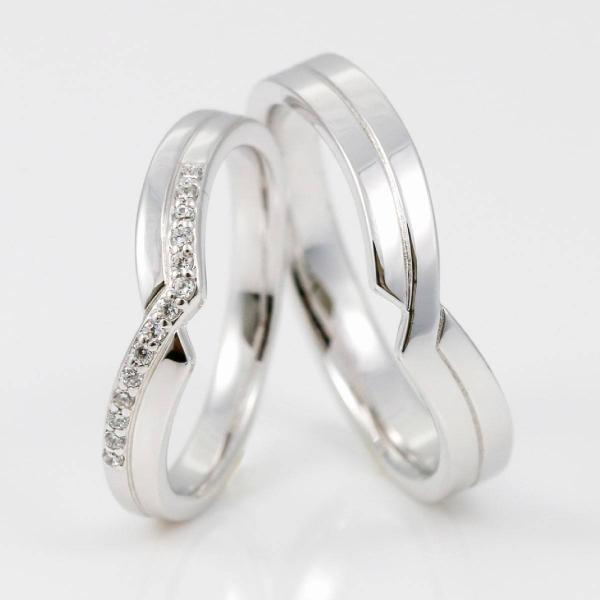 結婚指輪 ペアリング 安い 2本セット シルバー ダイヤモンド マリッジリング 指輪 母の日