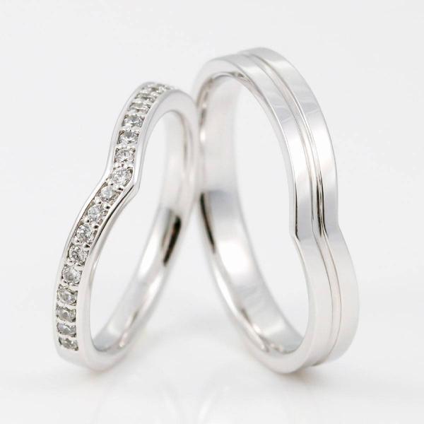 結婚指輪 ペアリング 安い 2本セット プラチナ ダイヤモンド マリッジリング 指輪 pt900 母の日