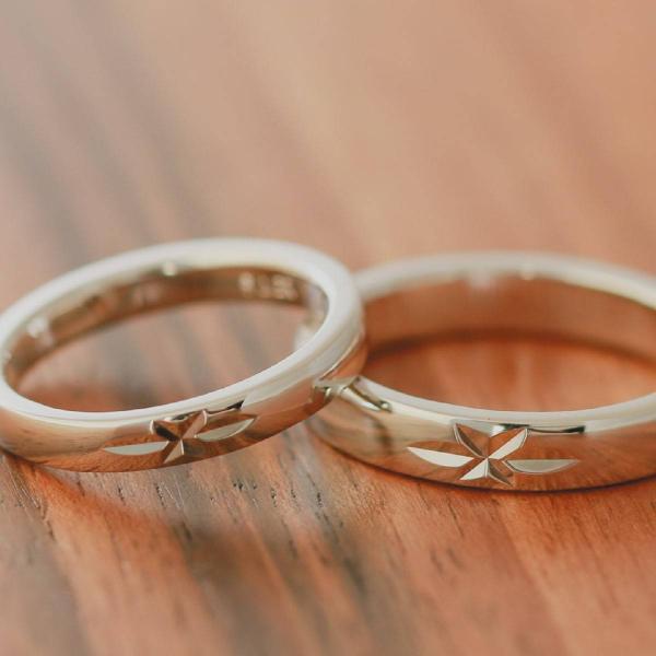 ペアリング マリッジリング 結婚指輪 ホワイトゴールド K18 2本セット|cococaru|03