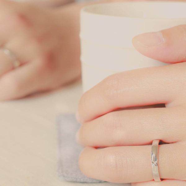 ペアリング マリッジリング 結婚指輪 ホワイトゴールド K18 2本セット|cococaru|05