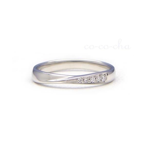 結婚指輪 プラチナ900 マリッジリング PILOT パイロット ily アイリー FHPC31D Pt900/ダイヤモンド