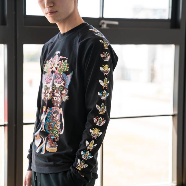 アディダス オリジナルス 長袖 Tシャツ TANAAMI カリフォルニア ロングスリーブ Tシャツ adidas Originals FUF47 DY6690|cocochiya|02