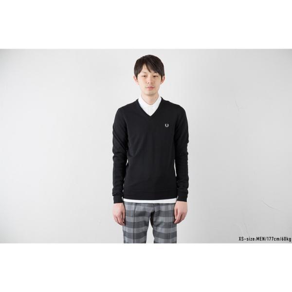 フレッドペリー セーター クラシック Vネック セーター K4500/K7210|cocochiya|05