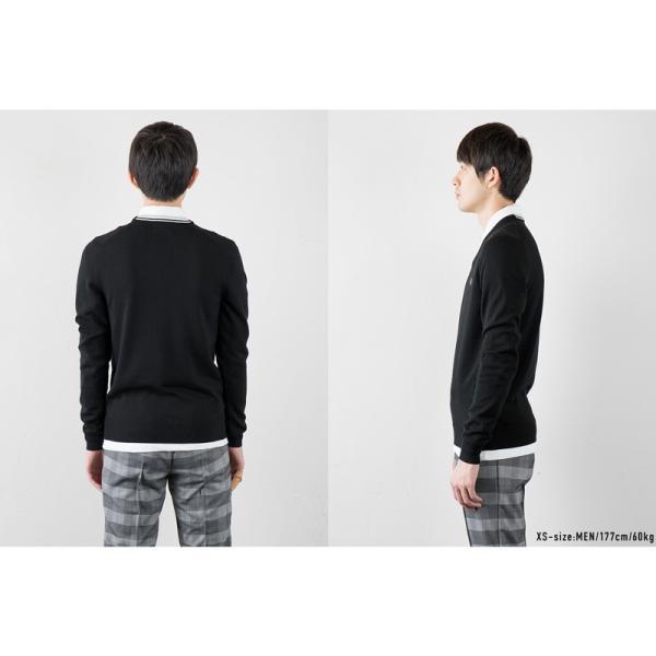 フレッドペリー セーター クラシック Vネック セーター K4500/K7210|cocochiya|06