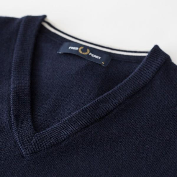 フレッドペリー セーター クラシック Vネック セーター K4500/K7210|cocochiya|08