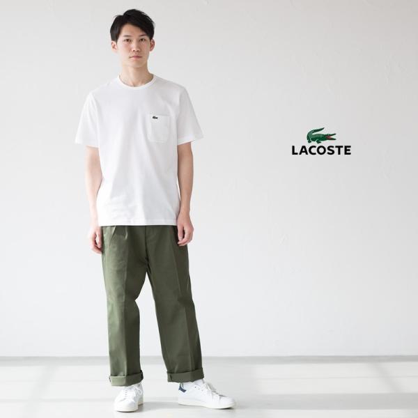 ラコステ 日本製 ポケットTシャツ半袖 クルーネック レギュラーフィット LACOSTE TH633E/TH633EL|cocochiya|05