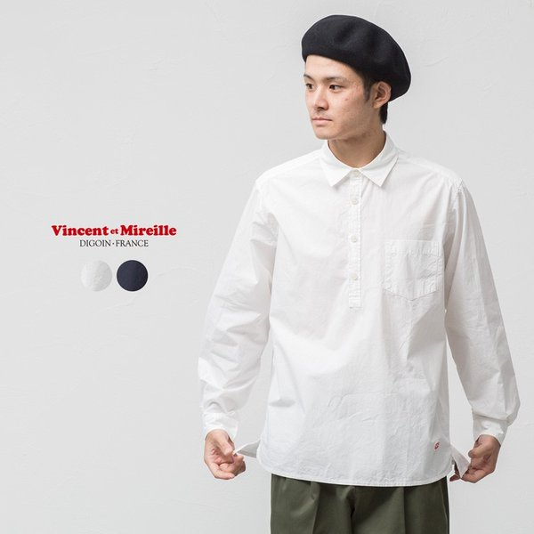 ヴァンソンエミレイユ タイプライター プルオーバー シャツ VM180TY11021 cocochiya