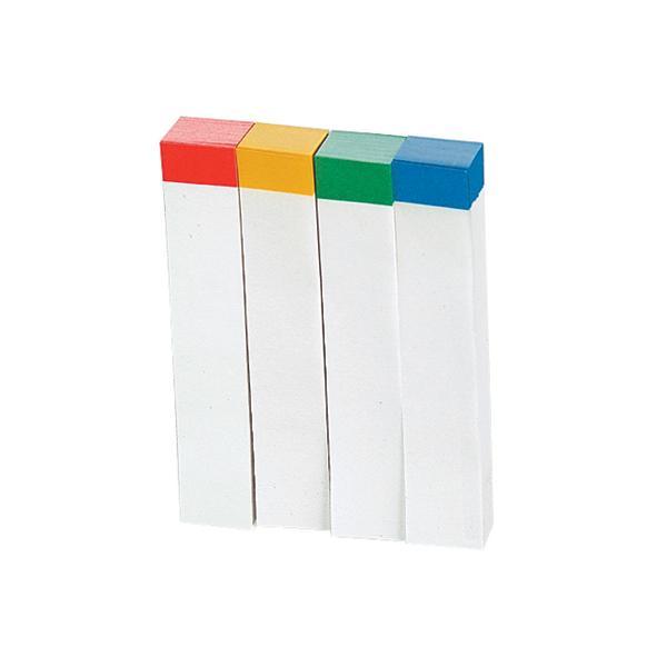ビュートン/貼ってはがせるノリ付メモ 色帯4色×100枚/MF-200