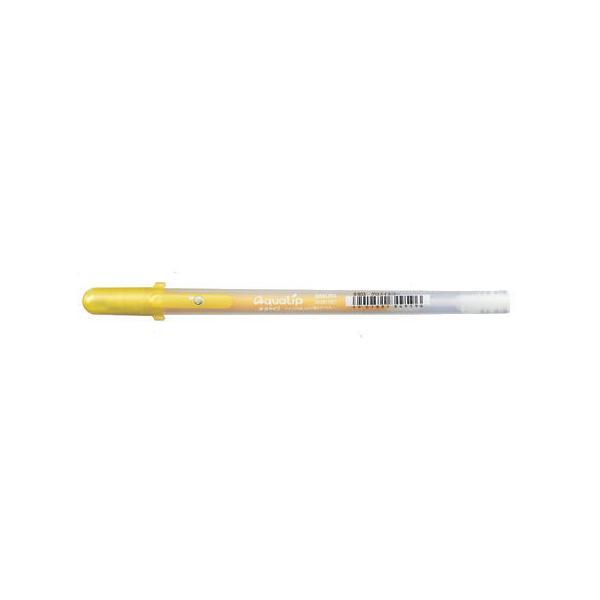 ゲルインキボールペン ボールサイン アクアリップ [グロスイエロー] 0.8mm