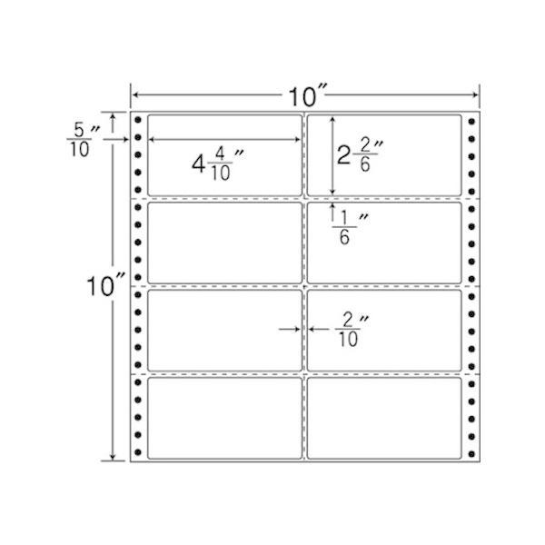 【メーカー直送】NANA/連続ラベルナナフォーム 10×10インチ 8面 500折/MT10H【代引不可】