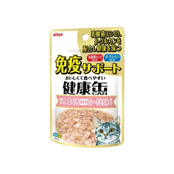 【お取り寄せ】アイシア/健康缶パウチ 免疫まぐろフレークとろみ 40g