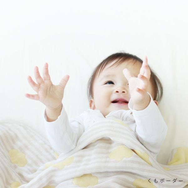 6重ガーゼケット ベビー 日本製 洗える 綿100% サンデシカ 100×140cm スター くも 送料無料 ココデシカ 出産祝い ギフト おくるみ ガーゼケット cocodesica 05