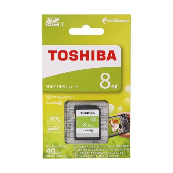TOSHIBA SDHCカード 8GB Class10 UHS-I対応 SDAR40N08G