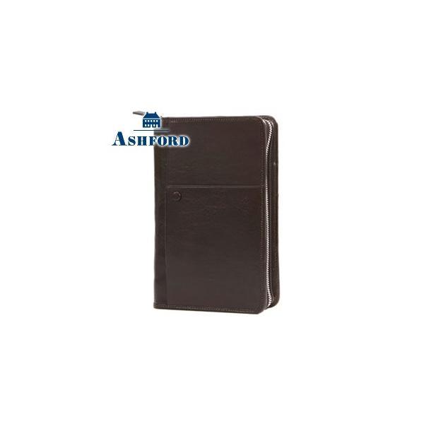 システム手帳 B6 革 アシュフォード 名入れ無料 ヨーク B6サイズ 19ミリ ジッパー システム手帳 ブラウン No. 7239-022