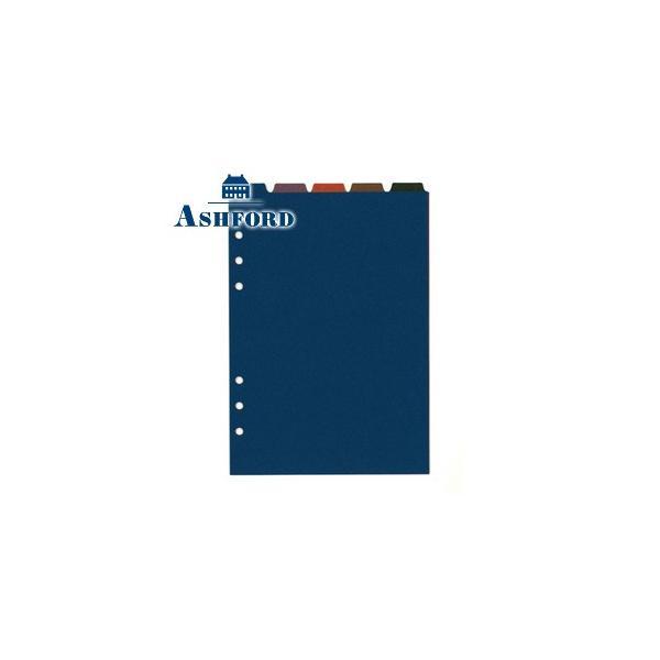 リフィル A5 アシュフォード カラーインデックス サイド5段 A5 A5サイズ リフィル 5セット 0692-100