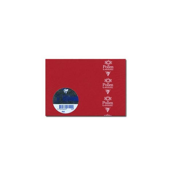 封筒 クレールフォンティーヌ POLLEN ポレン ポストカードサイズ封筒 20枚入 5セット レッド cf5586