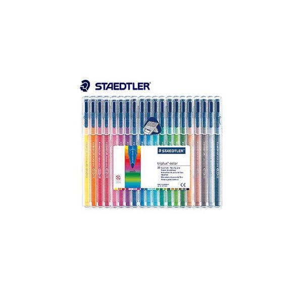 水性ペン ステッドラー トリプラス カラーペン 20色セット 323-SB20