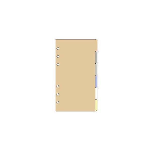 リフィル バイブルサイズ ダヴィンチ システム手帳 リフィル 聖書 バイブルサイズ アクセサリー カラーインデックス ヨコ型 6区分 5冊セット DR318